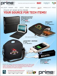 Great gift ideas for the techies on your list! www.primeline.com