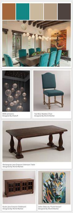 Shakuff Custom Lighting #diningroom #rustic #teal