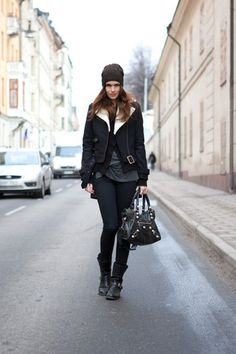 Rizzo Boots, Balenciaga Bag, Burberry Cap, H&M Jacket, Mq Cardigan, Alexander Wang Tee, Cheap Monday Jeans