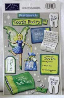 New Tooth Fairy Scrapbook Stickers *Free Ship