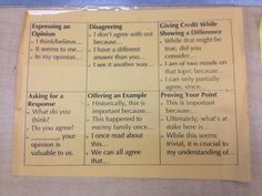 everyfiredies: ditchingclass: The best teachers are thieves sometimes. I saw one of these taped to each desk in a colleague's classroom today and I think it's a great way to foster discourse using academic language. Obviously, it would have to be taught, but this could serve as a good reminder. Socratic Seminar relevance!