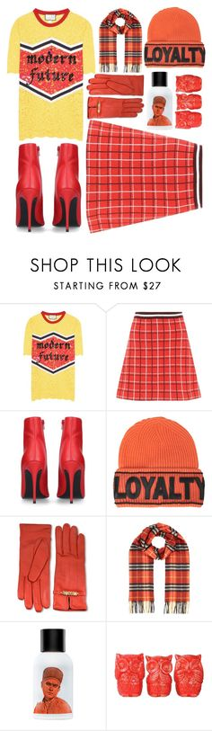 """""""#PolyPresents: Wish List"""" by sunnydays4everkh ❤ liked on Polyvore featuring Gucci, Miu Miu, Kurt Geiger, Versace, Moschino, Burberry, The Fragrance Kitchen, contestentry and polyPresents"""