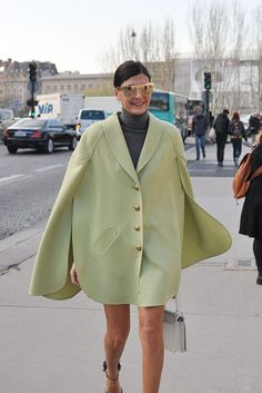 that cape does not quit. Gio in Paris. #GiovannaBattaglia