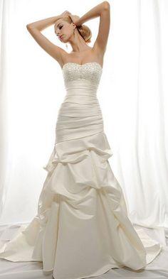 Royal Duchess Satin Gown w  Strapless Sweetheart Neckline   Chapel Train  28a5ebd952bf