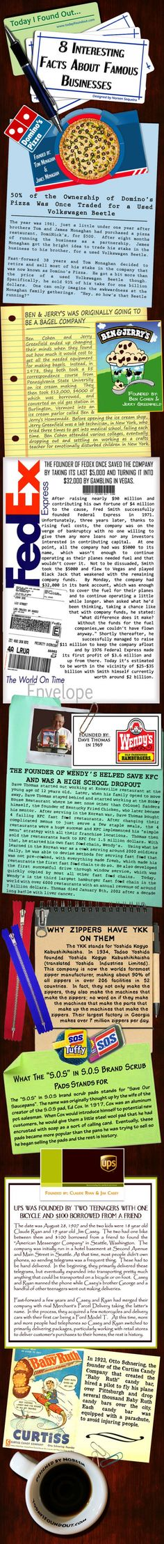 8 CRAZY Facts You Didn't Know About These Famous Businesses | Infographic