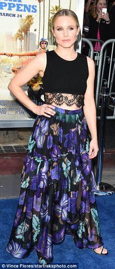 Flirt with florals in a maxi skirt like Kristen Bell in Alberta Ferretti #DailyMail
