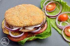Nyomtasd ki a receptet egy kattintással Wheat Free Recipes, Gf Recipes, Gluten Free Recipes, Vegan Gluten Free, Dairy Free, Homemade Hamburger Buns, Gm Diet, Salmon Burgers, Favorite Recipes