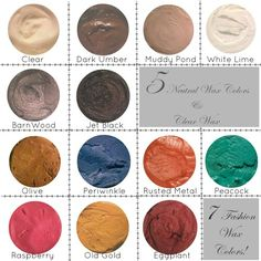 Heirloom Traditions Chalk Paint HTP Wax All Colors 2 oz 2nd Hand Furniture, Hand Painted Furniture, Paint Furniture, Furniture Refinishing, Antique Furniture, Paint Color Combos, Paint Color Palettes, Paint Colors, Diy Painting