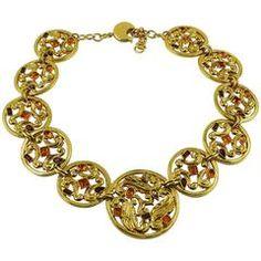 de3aea5e542 Yves Saint Laurent YSL Vintage 1970s Gold Toned Multi-Strand Sautoir  Necklace