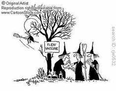It's flu shot season. Xmas Jokes, Halloween Jokes, Halloween Art, Holidays Halloween, Vintage Halloween, Cute Halloween Drawings, Halloween Pictures, Laugh Cartoon, Funny Cartoons