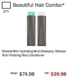 Mineral-Rich Hydrating Mud Shampoo, Mineral- Rich Vitalizing Mud Conditioner