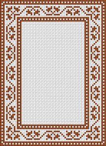 Cross Stitch Borders Free cross stitch pattern - frame border for cross stitch. Cross Stitch Boarders, Cross Stitch Bookmarks, Counted Cross Stitch Patterns, Cross Stitch Charts, Cross Stitch Designs, Cross Stitching, Cross Stitch Embroidery, Cross Stitch Needles, Embroidery Techniques