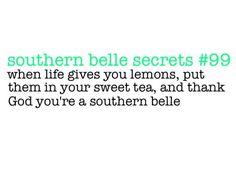 southern belle secrets - sweet tea