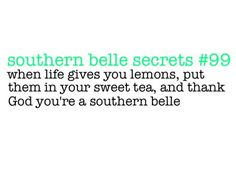 southern belle secrets - sweet tea