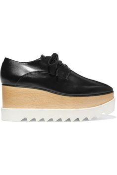 cbaf9a98bb20 Stella McCartney - Elyse faux glossed-leather platform brogues