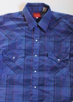 7d4aafa7 Men's Cotton Blend Regular Plaids & Checks Short Sleeve Sleeve Western  Casual Shirts | eBay