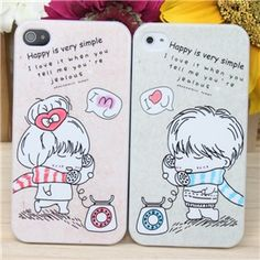 Couple Protective Plastic Case Set for iPhone 4/4S on Yoyoon.com.