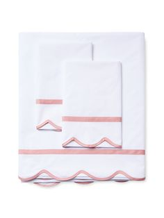 Dea Italian Linens Scalloped Sheet Set