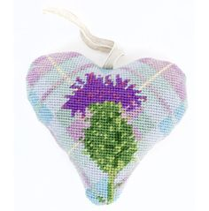 Bring some colour into your home with this beautiful Tartan Thistle Lavender Heart Tapestry Kit from Cleopatra's Needle.