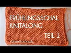 Frühlingsschal Knitalong Teil 1 - knitting - My Braid Knitting For Kids, Knitting For Beginners, Free Knitting, Start Knitting, Craft Patterns, Fabric Patterns, Knitting Patterns, Knitting Designs, Knitting Projects