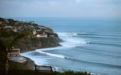 Favorite surf spot: Haggerty's in PV. A rare California left point break. Great place for goofy footers.