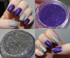 glitter nails done with loose glitter for your eyes