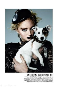 Fashion and furry friends: Lily Cole Poses With Dog Model For S Moda Magazine Editorial