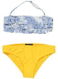 paisley blue and yellow bikini for girls