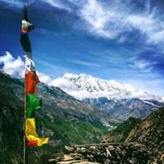 View of Annapurna II from Upper Pisang. Day four of our hike around the…