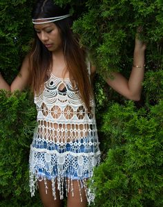 Fortune Soul Crochet Fringe Top