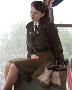 Hayley Atwell in High Officer Outfit