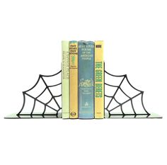 Spiderweb Metal Art Bookends - Free USA Shipping by KnobCreekMetalArts on Etsy https://www.etsy.com/listing/96479344/spiderweb-metal-art-bookends-free-usa
