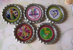 5-tinkerbell bottle caps :-)