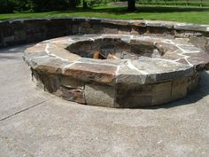 Natural Stone used to create this outdoor fire pit area. Stone is from Montana Rockworks Quarry and is called Castle Rock Ledge in a random pattern with a natural cleft finish cap.