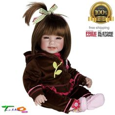 "Beautiful Adora Baby Dolls Toddler Cuddly Girl Games Brown 20"" Storytelling NEW #Adora #DollswithClothingAccessories"