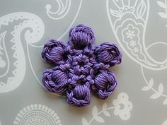 Bullion Stitch Flower - free crochet pattern plus video tutorial by Claire from CrochetLeaf.com