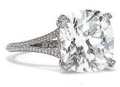 Split Shank Cushion Cut Diamond