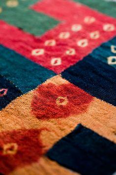 These fabrics are shibori dyed and pieced-- AMAZING WORK