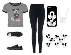 """""""MICKEYMOUSE"""" by mixedgirldoitbest ❤ liked on Polyvore featuring Topshop, Miss Selfridge, Converse and Disney"""