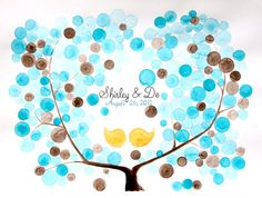 Custom Wedding Guest Book Tree  Unique and by onceuponapaper, $70.00