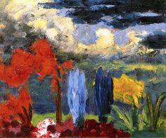 Autumn Garden Emil Nolde - 1925