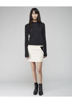 Proenza Schouler  Colorblocked Mini Skirt      La Gar�onne   La Garconne
