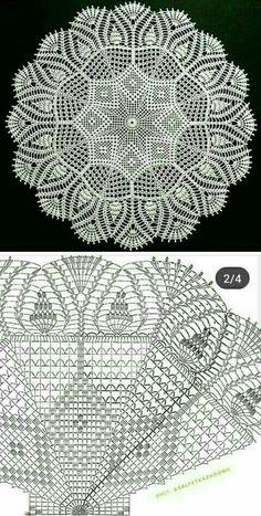Free Crochet Doily Patterns, Crochet Doily Diagram, Filet Crochet Charts, Crochet Flower Tutorial, Christmas Crochet Patterns, Crochet Mandala, Crochet Squares, Crochet Motif, Diy Crochet