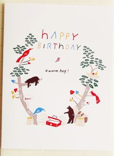 Happy Birthday Forest Cards(Set of 2)
