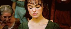 "When Mr. Darcy and Lizzie first locked eyes and your heart audibly gasped. | These 24 Moments From ""Pride & Prejudice"" Will Make Your Heart Melt"