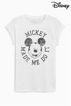 9f5f9a866 Buy White Mickey Mouse™ T-Shirt from the Next UK online shop Mickey Shirt