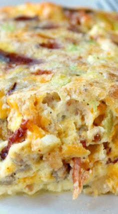 Southwest Egg Bake!! Has sausage, bacon, cheese and green chilies.