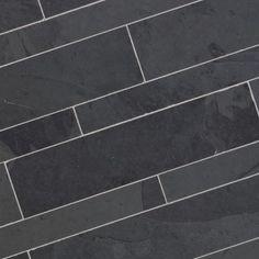 Dalles Carrelage en pierre Ardoise noire 60x14