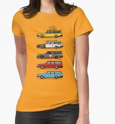 Stack of Volvo 240 245 Station Wagons Women's T-Shirt by Monkey Crisis On Mars #VolvoNation #WagonLife #Stance #Slammed #Hipster | Redbubble