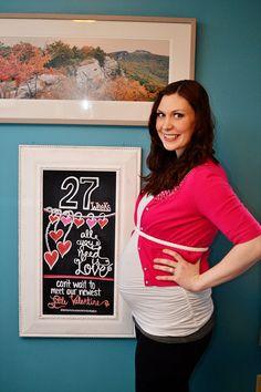 """Valentine Pregnancy Chalkboard Announcement - """"All You Need Is Love"""" Weekly Pregnancy Chalkboard, Chalkboard Template, New Homeowner, All You Need Is Love, Baby Fever, Pregnancy Photos, Valentines Day, Maternity, Joy"""